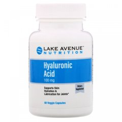 Гиалуроновая кислота, Hyaluronic Acid, Lake Avenue Nutrition, 100 мг, 60 капсул