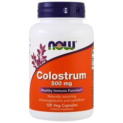 Колострум, Colostrum, Now Foods, 500 мг, 120 капсул
