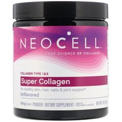 Супер Коллаген, тип 1 и 3, Collagen, Neocell, порошок, 198 грамм