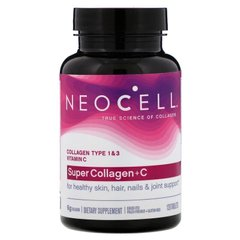 Супер Коллаген, тип 1 и 3, Collagen + C, Neocell, 6000 мг, 120 таблеток