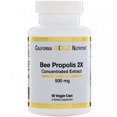 Прополис, Bee Propolis Extract, California Gold Nutrition, 500 мг, 90 капсул